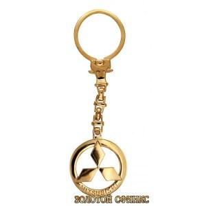 Золотой брелок для ключей на авто Мицубиси 39923