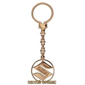 Золотой брелок для ключей Сузуки 39924 фото