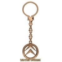Золотой брелок для ключей на авто Ситроен 39935