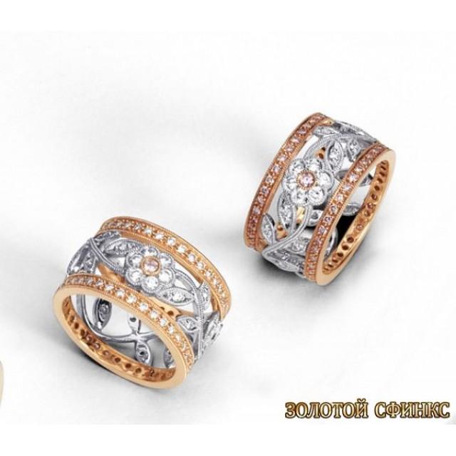 Обручальное кольцо 40117sg фото