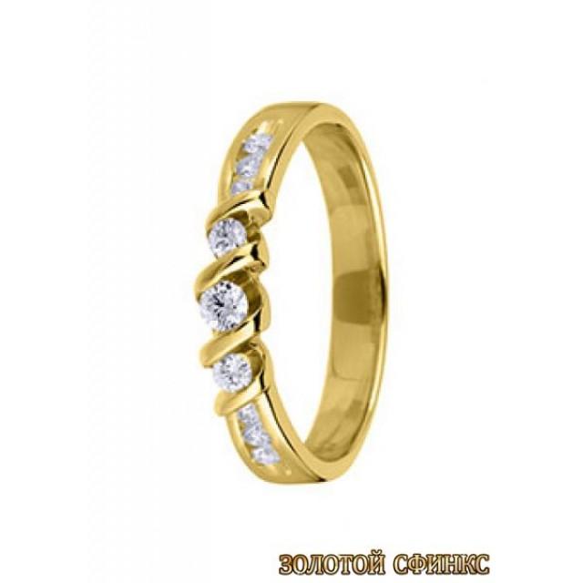 Обручальное кольцо 40155пом