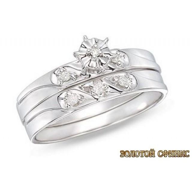 Обручальное кольцо 40182пом