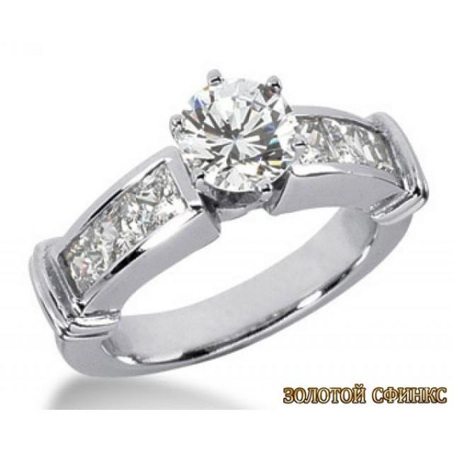 Золотое кольцо с бриллиантами 30004-1bn