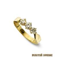 Золотое кольцо с бриллиантами 30008-1brr