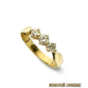 Золотое кольцо с бриллиантами 30008-1brr фото