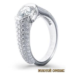 Золотое кольцо с бриллиантами 30009-1cr фото