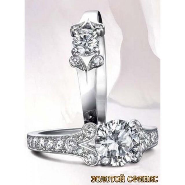 Золотое кольцо с бриллиантами 30010-1cr