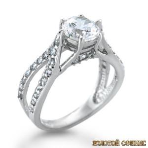 Золотое кольцо с бриллиантами 30011-1cr фото