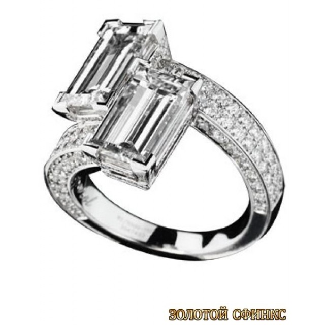 Золотое кольцо с бриллиантами 30013-1cd