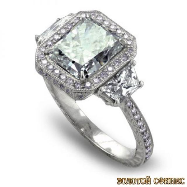 Золотое кольцо с бриллиантами 30014-1cd