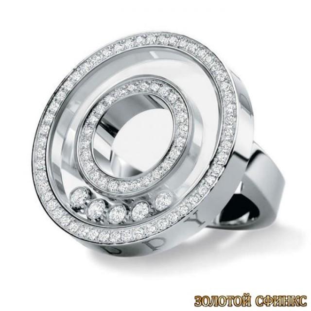Золотое кольцо с бриллиантами 30017-1cd