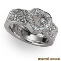Золотое кольцо с бриллиантами 30019-1cd