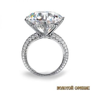 Золотое кольцо с бриллиантами 30023-1cd