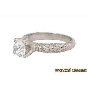 Золотое кольцо с бриллиантом 30001-1ass фото