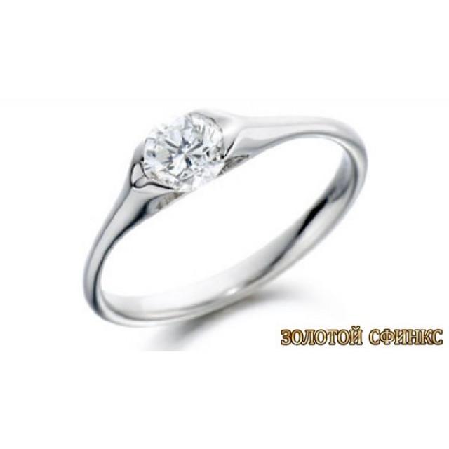 Золотое кольцо с бриллиантом 30080-1пом