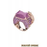 Золотое кольцо с цирконами 30006acr