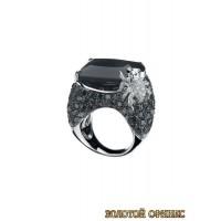Золотое кольцо с цирконами 30007acr