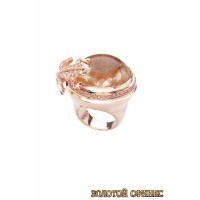 Золотое кольцо с цирконами 30015acr