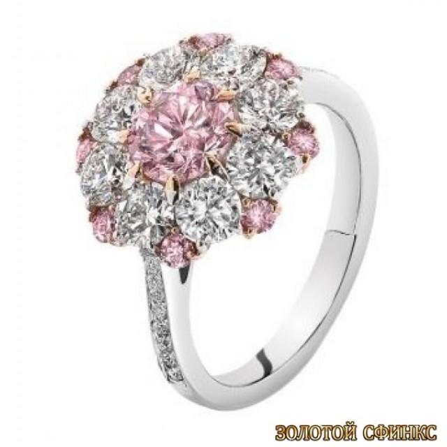 Золотое кольцо с цирконами 30059ay