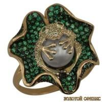 Золотое кольцо с жемчугом 1020