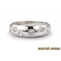 Золотое обручальное кольцо 40152пом