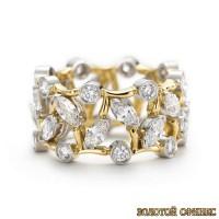 Золотое обручальное кольцо 40175пом