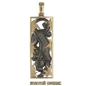 Золотой кулон пантера 304