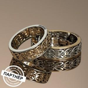 Золотое обручальное кольцо Goldberg 10-10