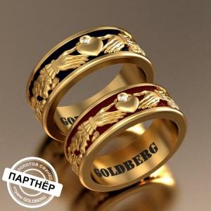 Золотое обручальное кольцо Goldberg 10-13