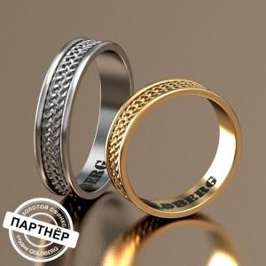 Золотое обручальное кольцо Goldberg 10-19