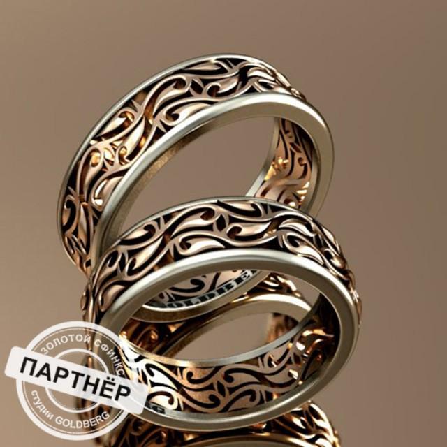 Золотое обручальное кольцо Goldberg 10-31