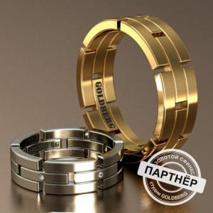 Золотое обручальное кольцо Goldberg 10-40