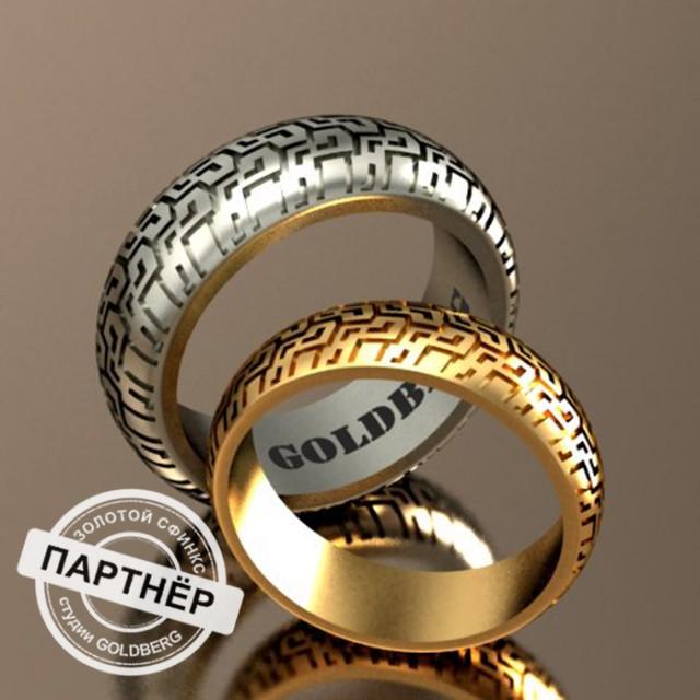 Золотое обручальное кольцо Goldberg 10-44