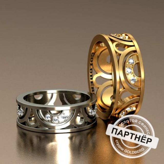 Золотое обручальное кольцо Goldberg 10-46