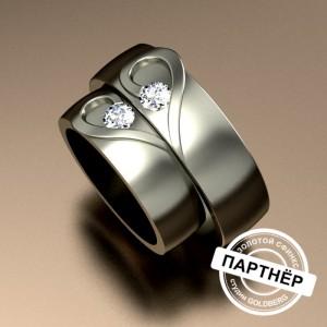 Золотое обручальное кольцо Goldberg 10-51