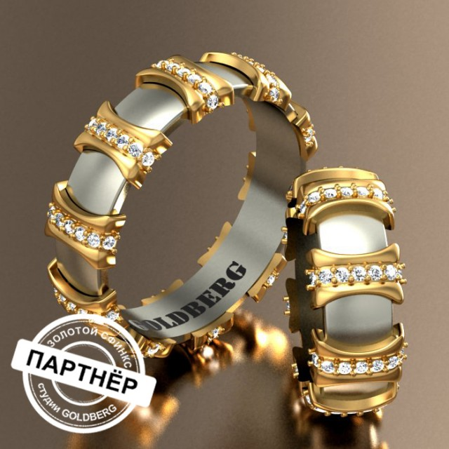 Золотое обручальное кольцо Goldberg 10-60
