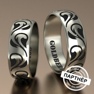 Золотое обручальное кольцо Goldberg 10-61