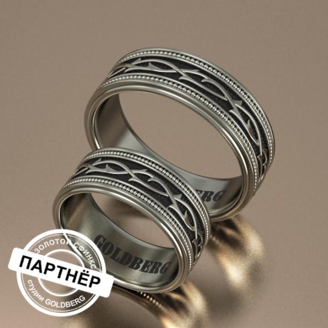 Золотое обручальное кольцо Goldberg 10-63