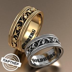 Золотое обручальное кольцо Goldberg 10-69