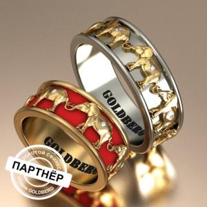 Золотое обручальное кольцо Goldberg 10-73