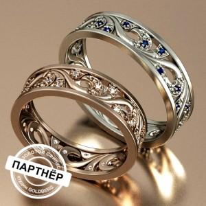 Золотое обручальное кольцо Goldberg 10-82