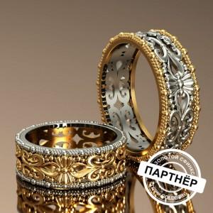 Золотое обручальное кольцо Goldberg 10-84