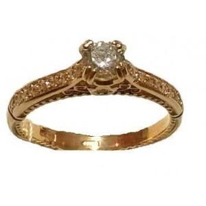 Золотое кольцо для помолвки 791жан