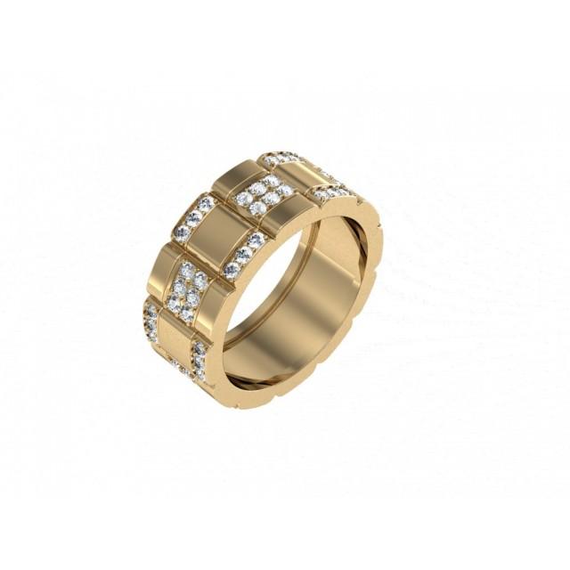 Золотое обручальное кольцо 401010