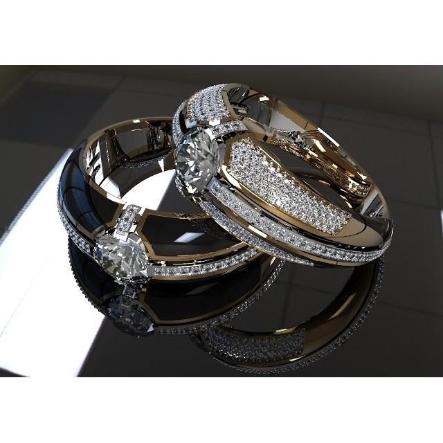 Золотое обручальное кольцо с эмалью 410130