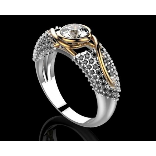Золотое обручальное кольцо 415111
