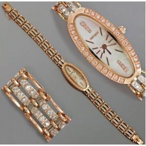 Золотые часы женские 169т