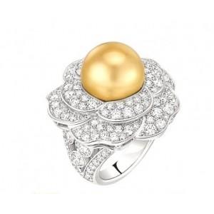 Золотое кольцо с жемчугом 30561 фото