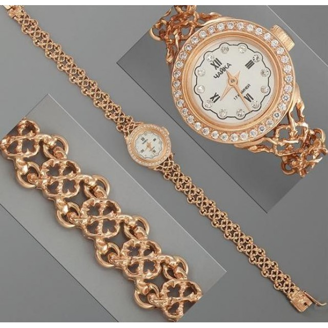 Золотые часы женские 37