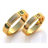 Золотое кольцо обручальное 415130